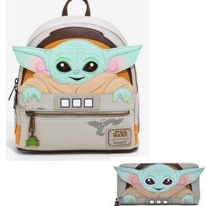 LOUNGEFLY STAR WARS THE CHILD & FULL SIZE WALLET